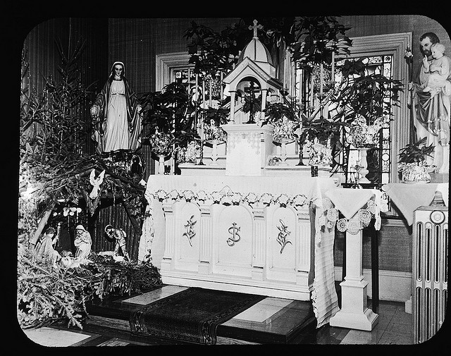 Chapel Altar at Christmas