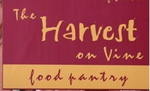 Harvest on Vine food pantry logo and link